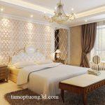 Trang trí nội thất phòng ngủ bằng Tấm ốp 3D da