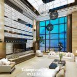 Trang trí phòng khách đẹp và lạ với tấm ốp 3D