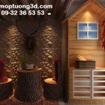 Vật liệu ốp tường 3D xu hướng mới trong trang trí nội thất