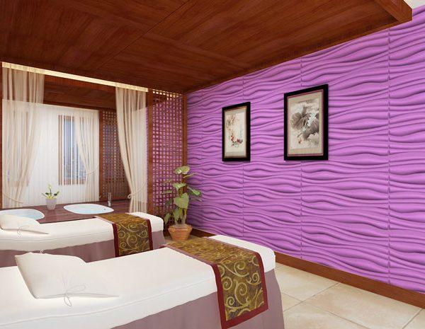 Trang trí thẩm mỹ viện Spa bằng tấm ốp tường 3d