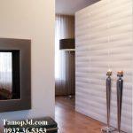 Nội thất hiện đại với tấm ốp tường 3d, tấm trang trí 3d