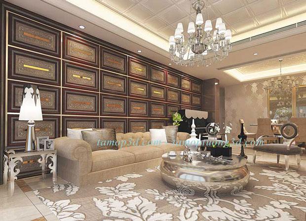 Vật liệu trang trí nội thất cao cấp từ tấm ốp da 3d mã DP6039-Case-A