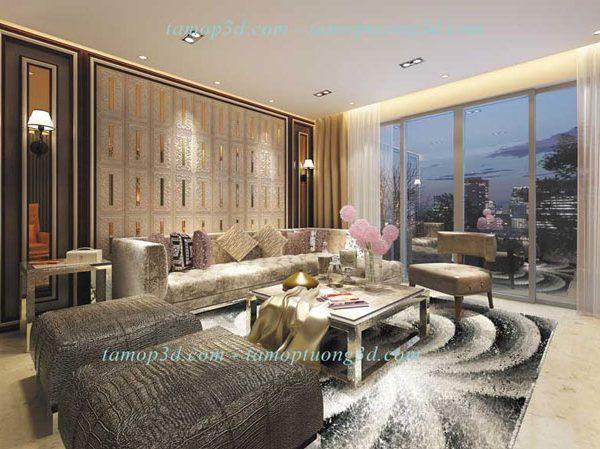 Vật liệu trang trí nội thất cao cấp từ tấm ốp da 3d mã DP6039-Case-B