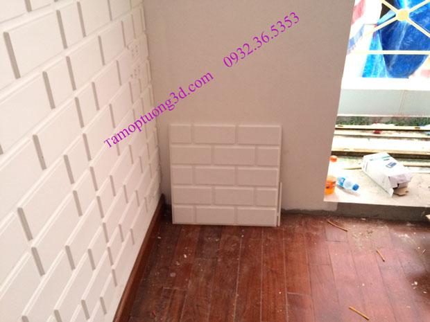 Vật liệu trang trí 3d nội thất phòng khách hình khối gạch Brick-1
