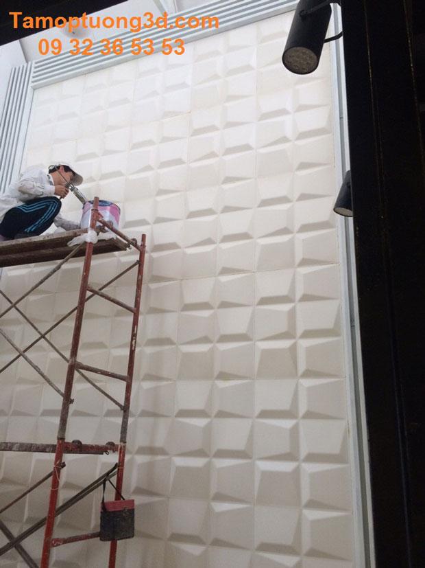 Vật liệu trang trí 3d nội thất phòng  bé hình khối Mosaic-1
