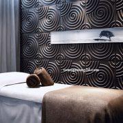 Vật liệu trang trí 3d spa nội thất hình khối xoắn tròn Ripple