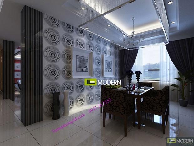 Vật liệu trang trí 3d nội thất phòng  khách hình tròn Cricle-1