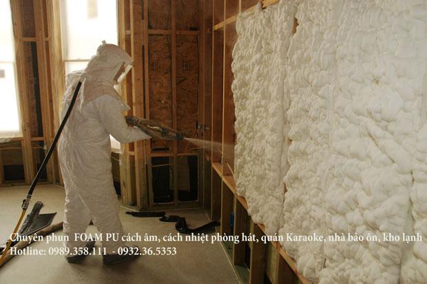 Phun foam PU cách âm cách nhiệt chống cháy