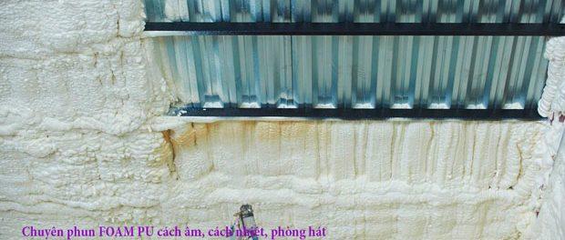 Phun foam PU cách âm cách nhiệt chống cháy 2
