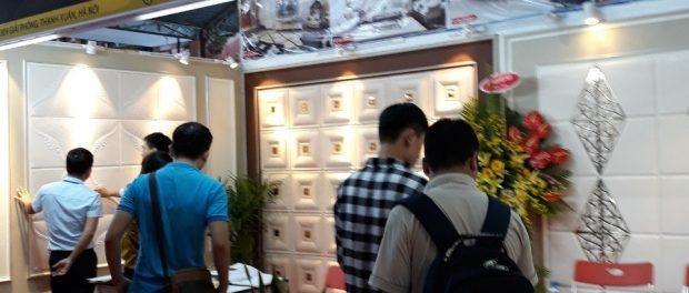 Công ty TNHH Tấm ốp trang trí 3d tham gia hội chợ vietbuil 2018-2
